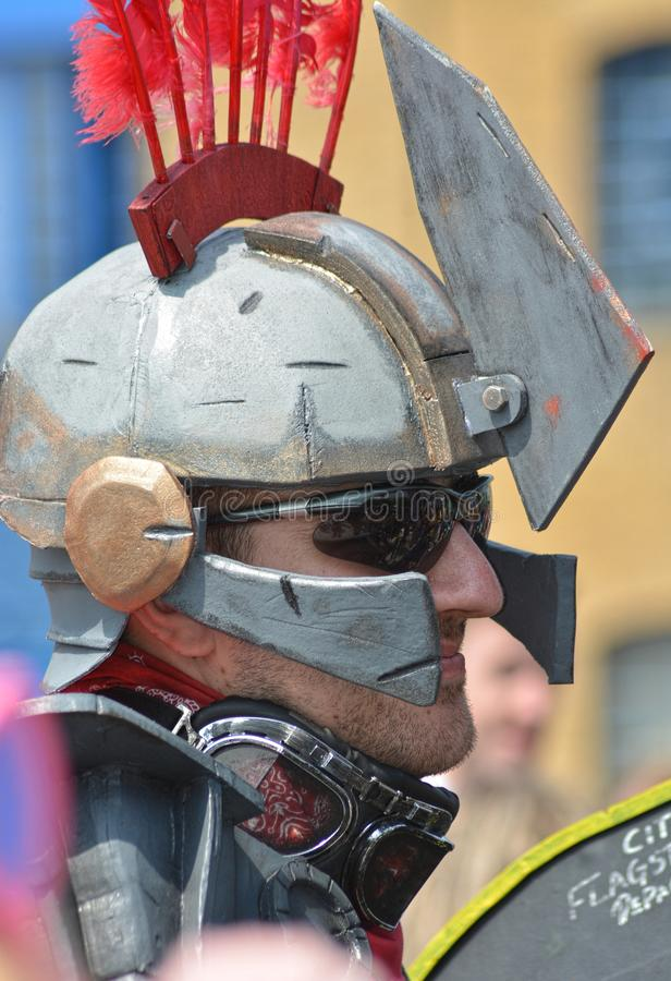 Cosplay Centurion Helmportret stock foto's