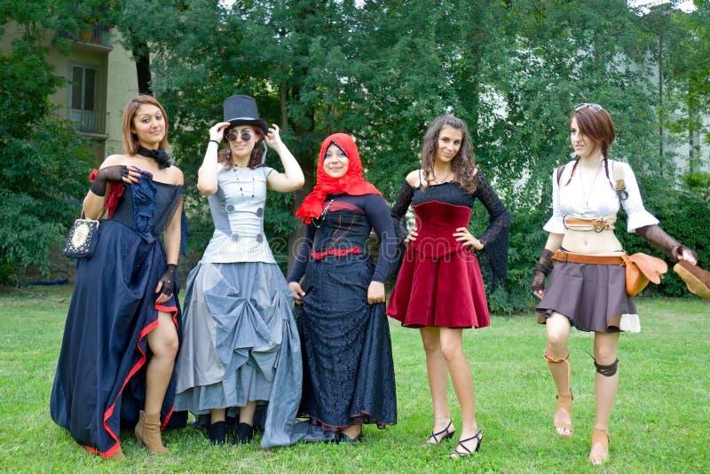 Cosplay contest girls stock photo