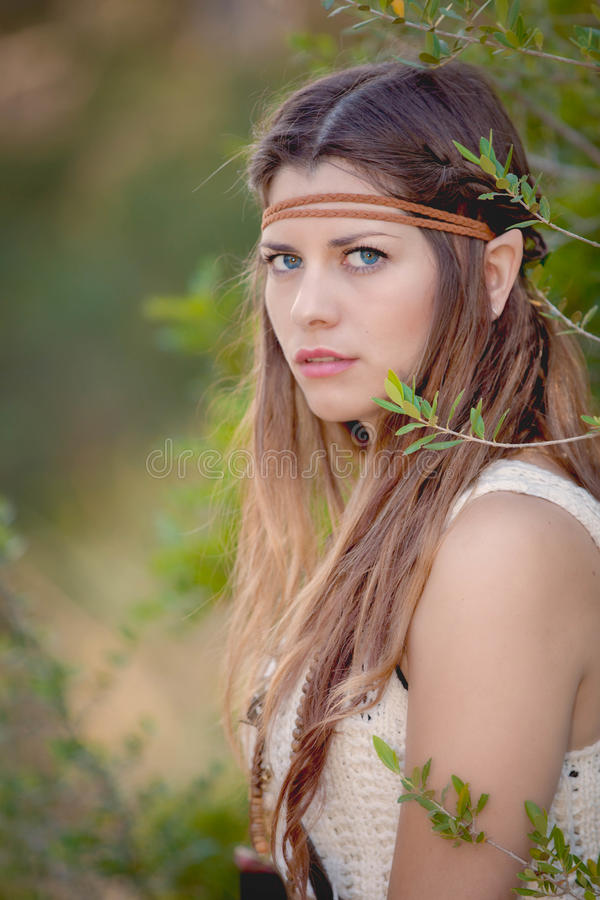Cosplay elf fairy tale character stock photography