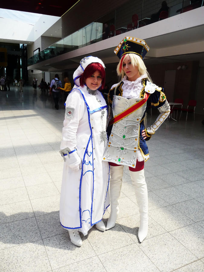 Cosplay Event At Londons Excel Center stock photos