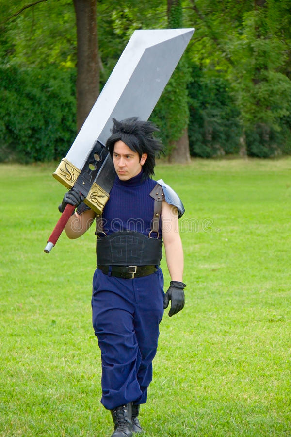 Cosplay - Final Fantasy VII royalty free stock image