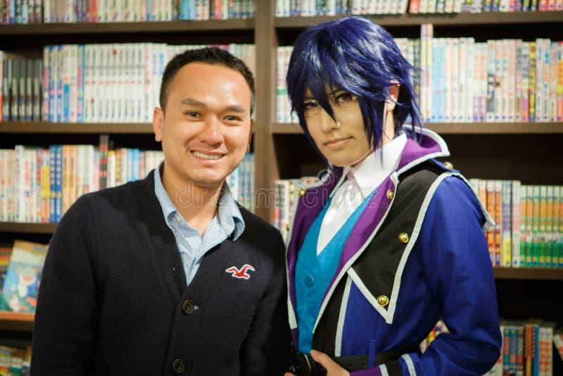 Cosplay flicka för japanskt animetecken royaltyfria bilder