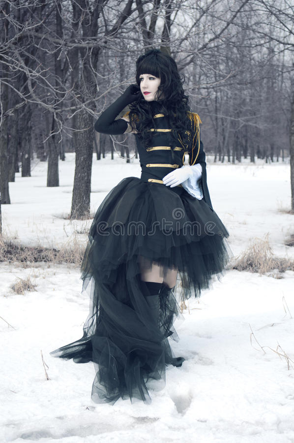 cosplay flickalikformig arkivfoto