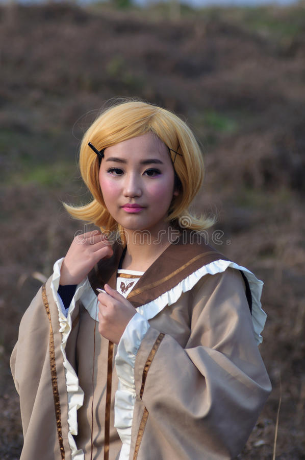 Cosplay girl. Take in Beijing,china royalty free stock images