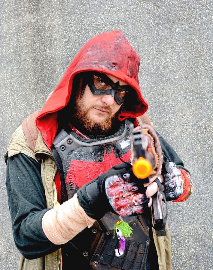 Cosplay Het Kostuum van het oogmasker stock foto
