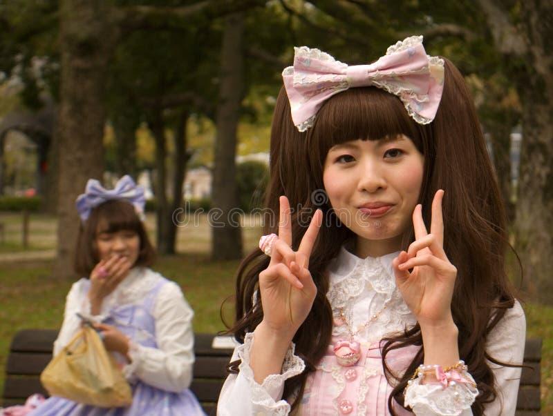 Cosplay-Mädchen, Hiroshima, Japan stockfoto
