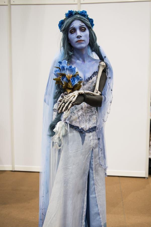 Cosplayer di Corpse Bride immagini stock libere da diritti
