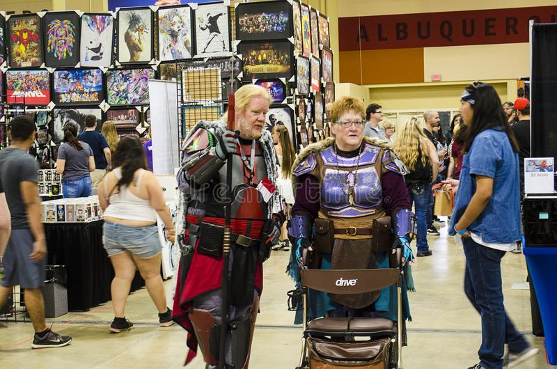 Cosplayer et fans de All Age the Comic Expo images stock