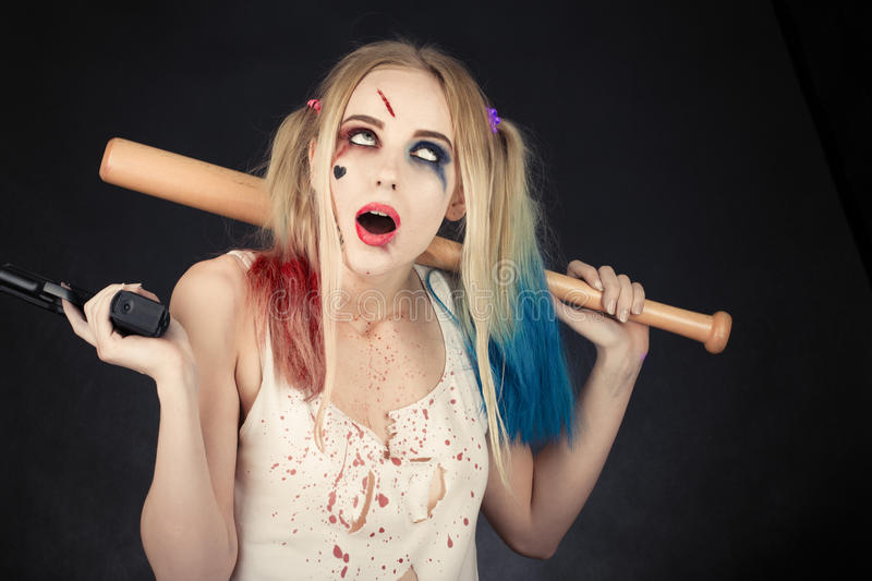 Cosplayer Harley Quinn images stock