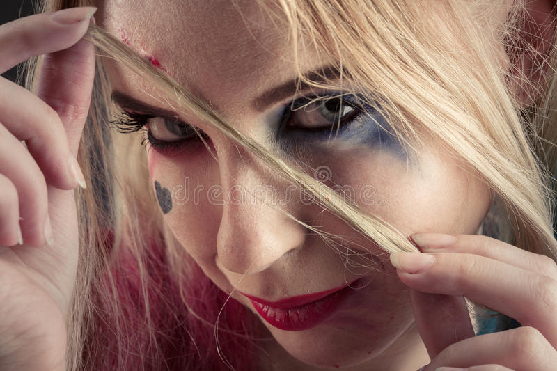 Cosplayer Harley Quinn royalty free stock photo