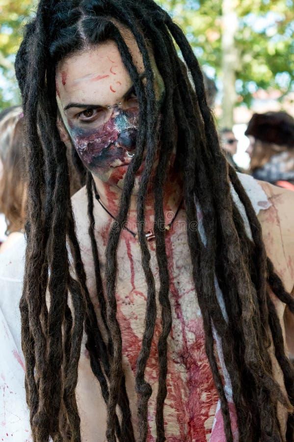 Cosplayer zombie lucca στο comics 2016 στοκ εικόνες με δικαίωμα ελεύθερης χρήσης