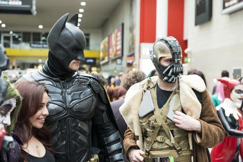 Cosplayers Batman στοκ φωτογραφίες με δικαίωμα ελεύθερης χρήσης