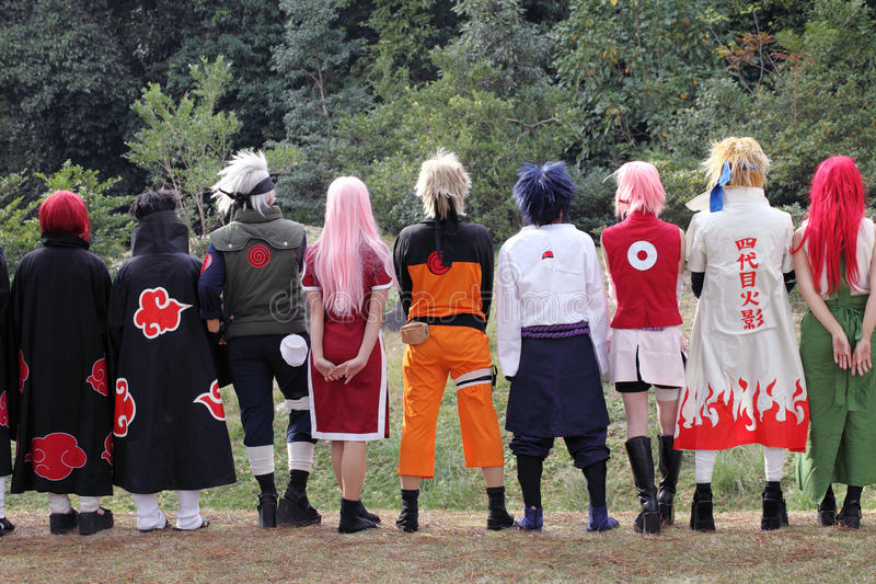 cosplayers japońscy zdjęcie royalty free