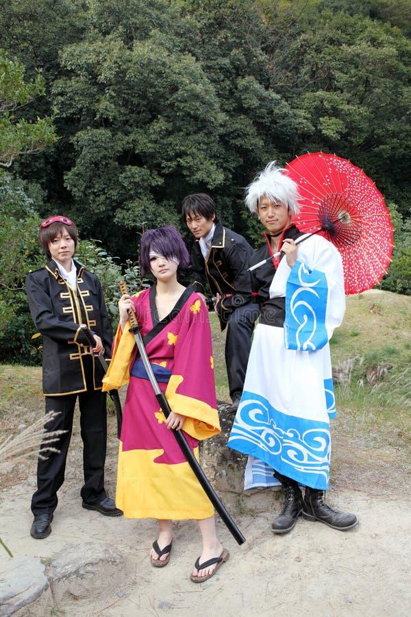 Cosplayers japonais, samouraï photos stock