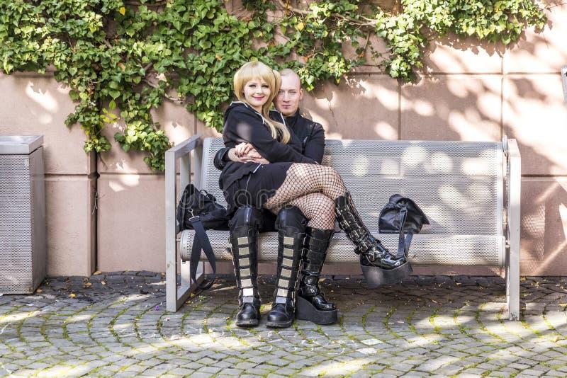 Cosplayers przy Frankfurt targi książki 2014 fotografia royalty free