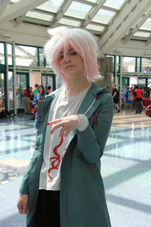 Cosplayers wearing costumes and fashion accessories at Anime Exp royalty free stock photos