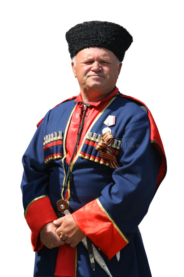 Cossack 2 (isolato) fotografia stock