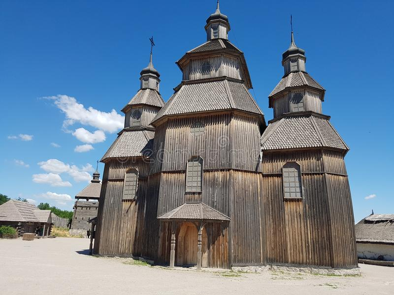 Cossack church stock photo