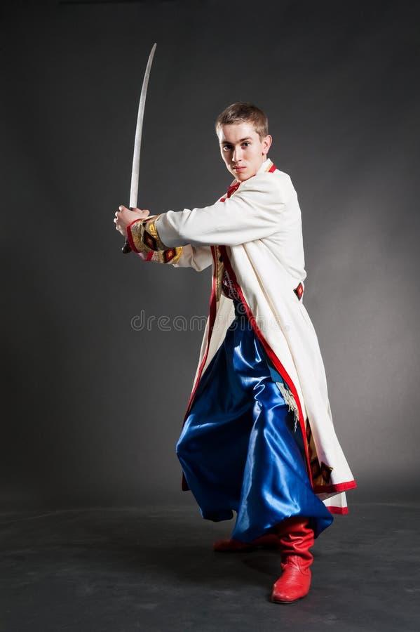 Cossack hermoso armado foto de archivo