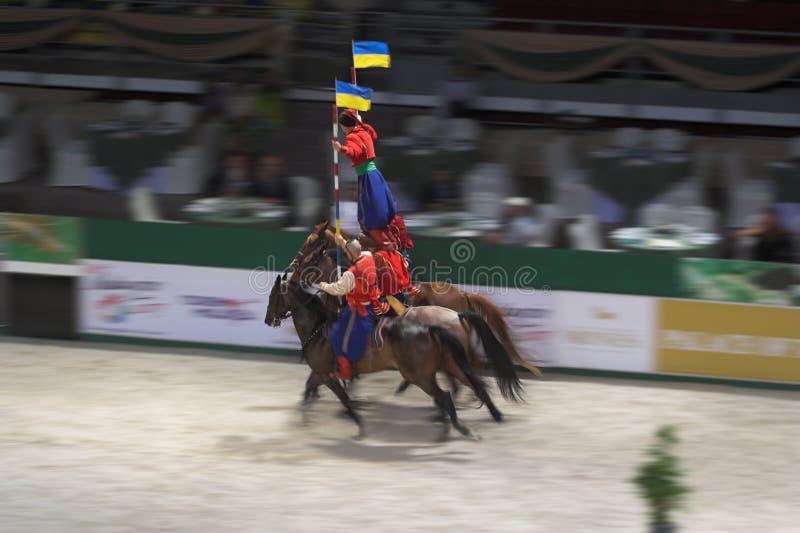 Cossack horseman royalty free stock images