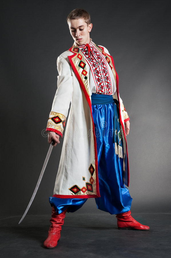 cossack target624_0_ szabli ukrainian potomstwa obraz stock