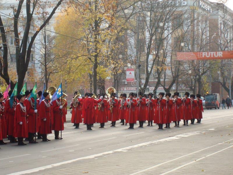 Cossacos da parada imagens de stock royalty free