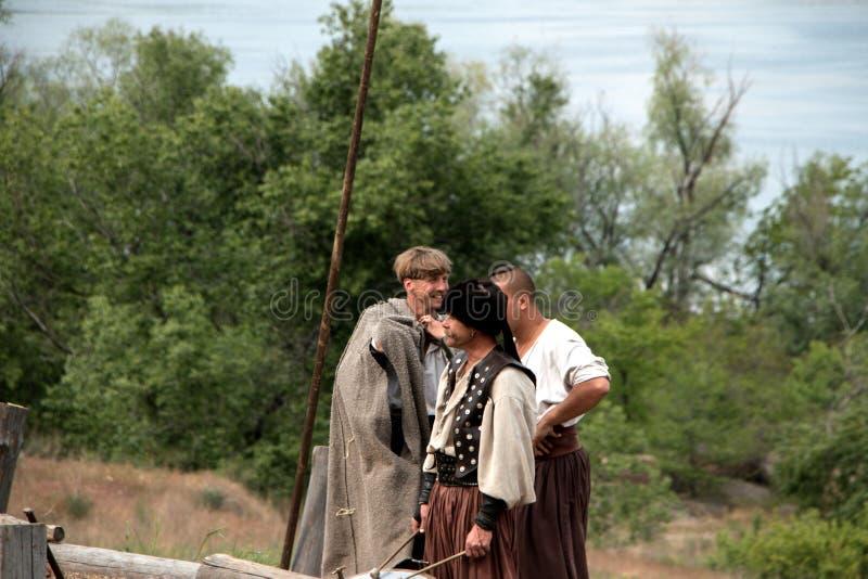 Cossacos de Zaporozhye foto de stock