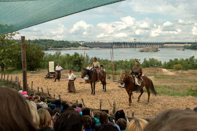Cossacos de Zaporozhye imagens de stock royalty free