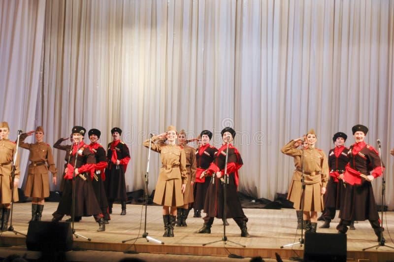 Cossacs de Nekrasov imagem de stock