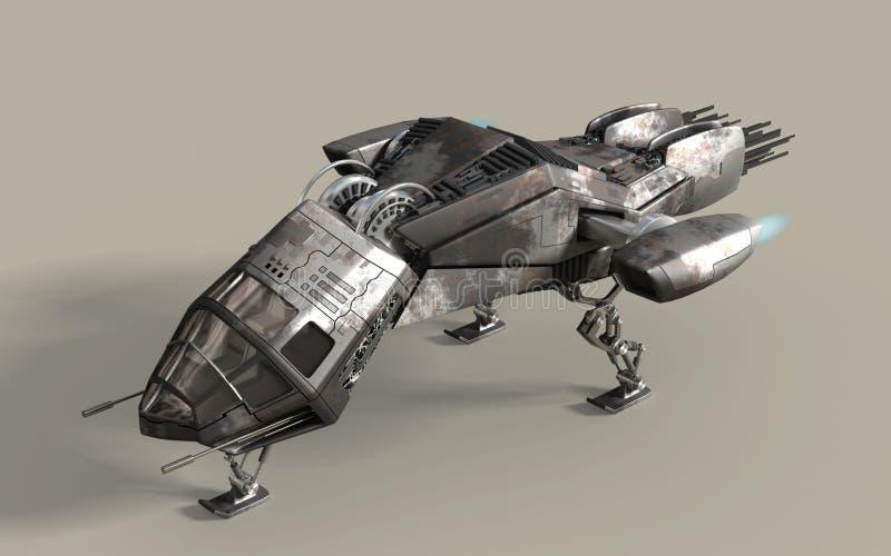 Cosse futuriste du cuirassé 3D illustration libre de droits