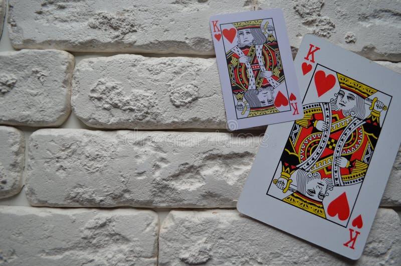 Cosses royales d'instantané de casino de cartes de jeu tisonnier casino photo stock