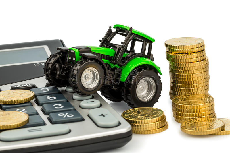 Cost accounting in agriculture royalty free stock photography
