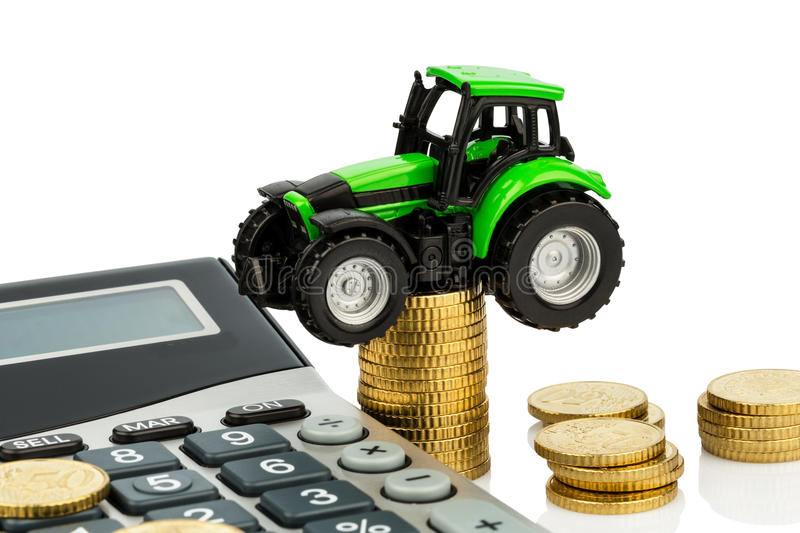 Cost accounting in agriculture royalty free stock images