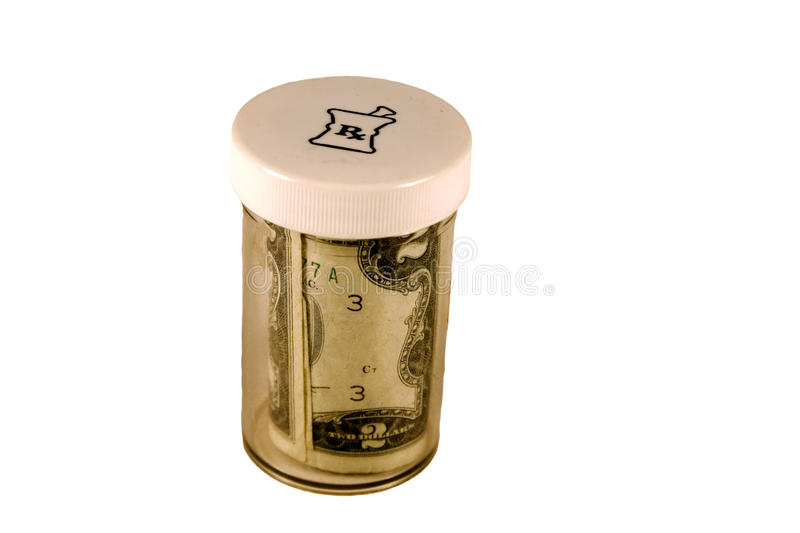 Cost Of Drugs Royalty Free Stock Photo