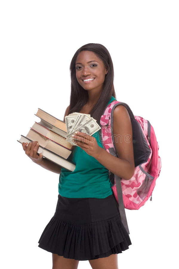Cost of education student loan and financial aid royalty free stock photography