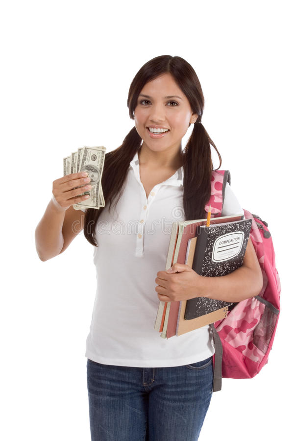 Cost of education student loan and financial aid royalty free stock image