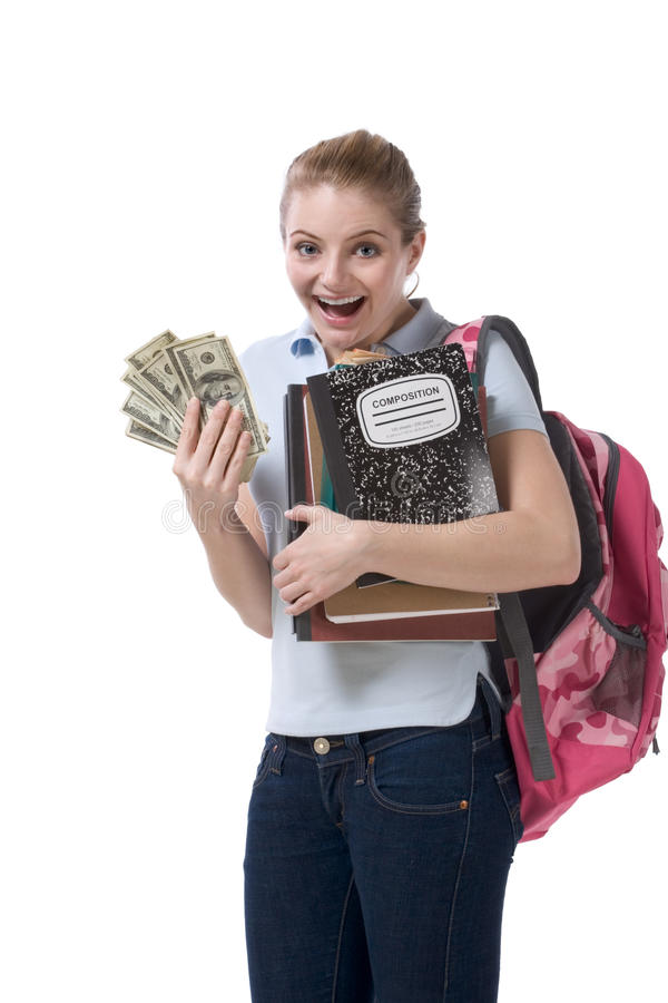 Cost of education student loan and financial aid royalty free stock photo