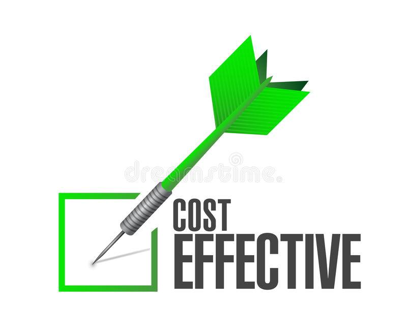 Cost effective check approval sign concept royalty free illustration