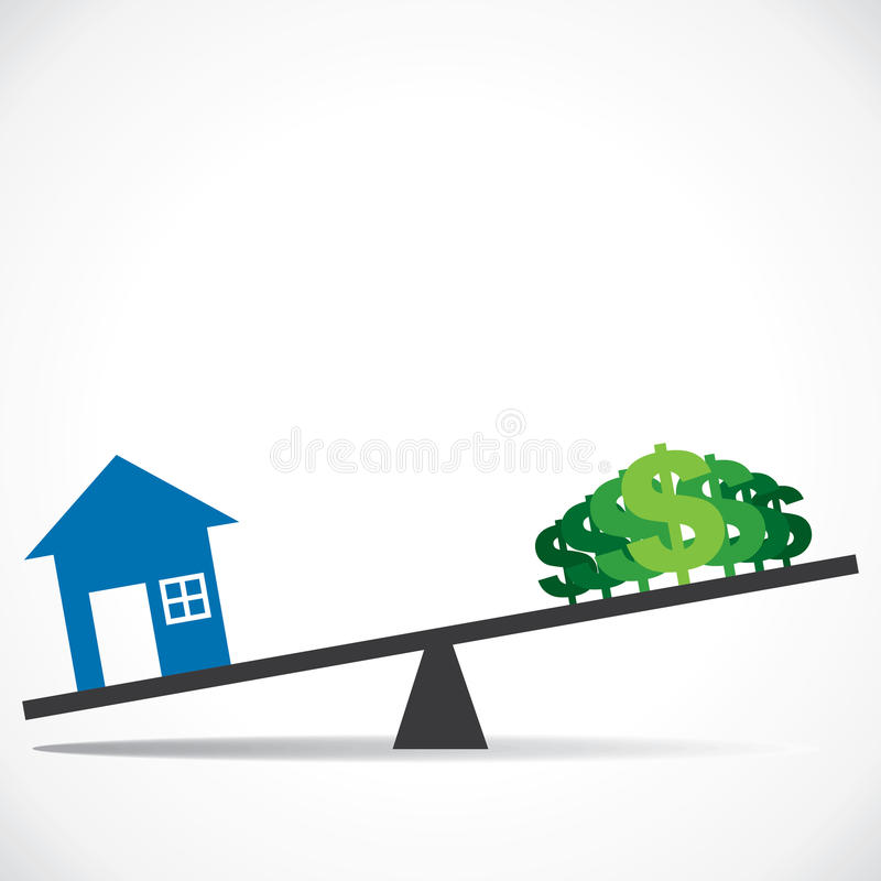 Cost Of Home Is Increase As Per Requirement Stock Photo