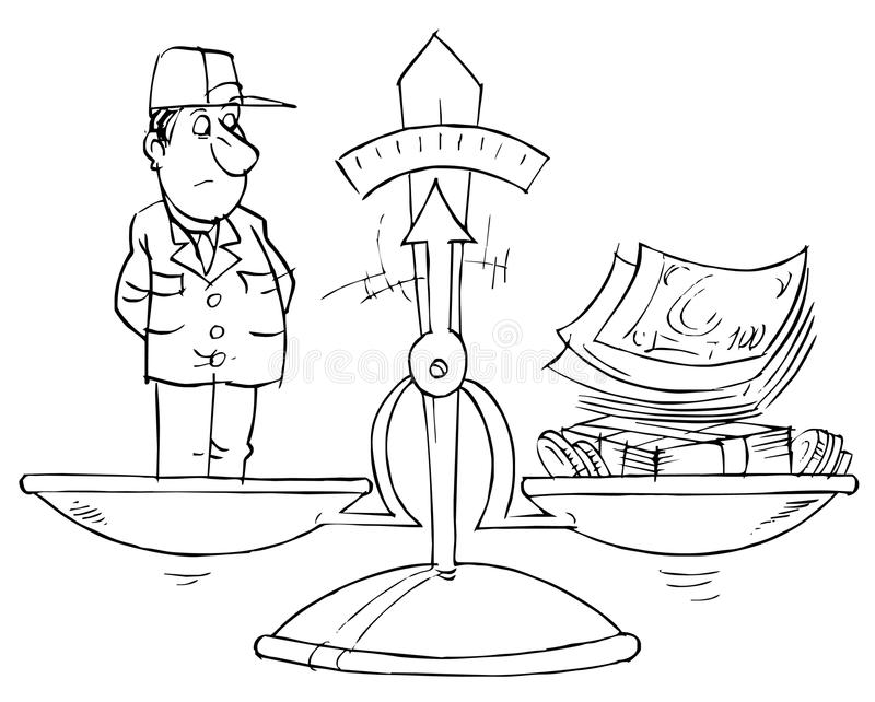 Cost of labor royalty free illustration