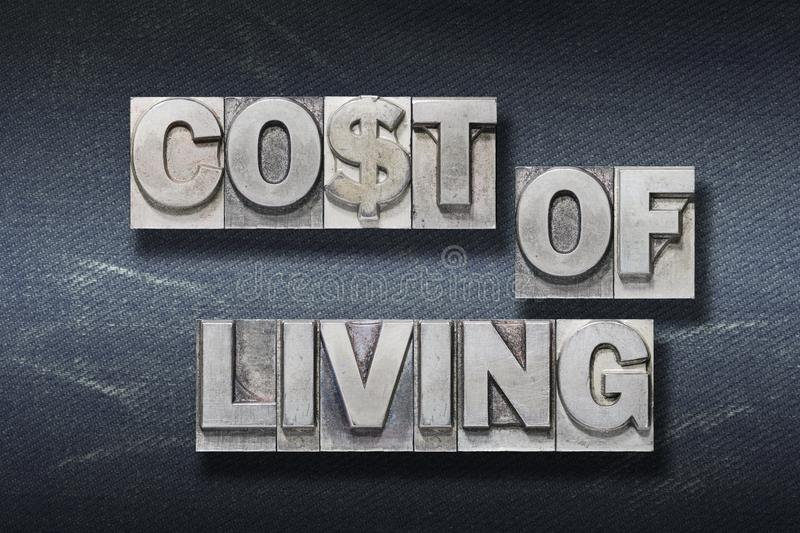 Cost of living den stock images