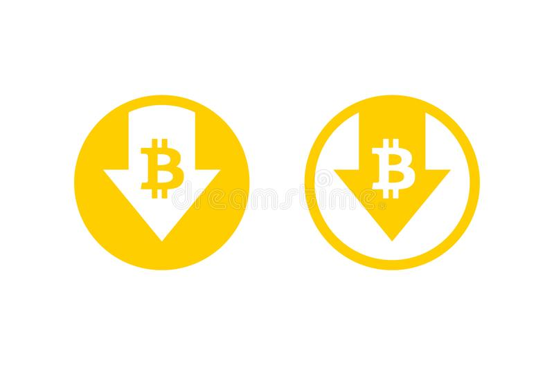 Cost reduction icon. Bitcoin. Image isolated on white background. Vector illustration. Cost reduction icon. Bitcoin. Image isolated on white background. Vector vector illustration