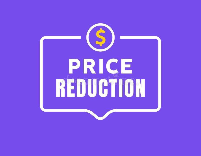 Cost reduction icon dollar. Price decrease arrow symbol. business sale sign illustration royalty free illustration