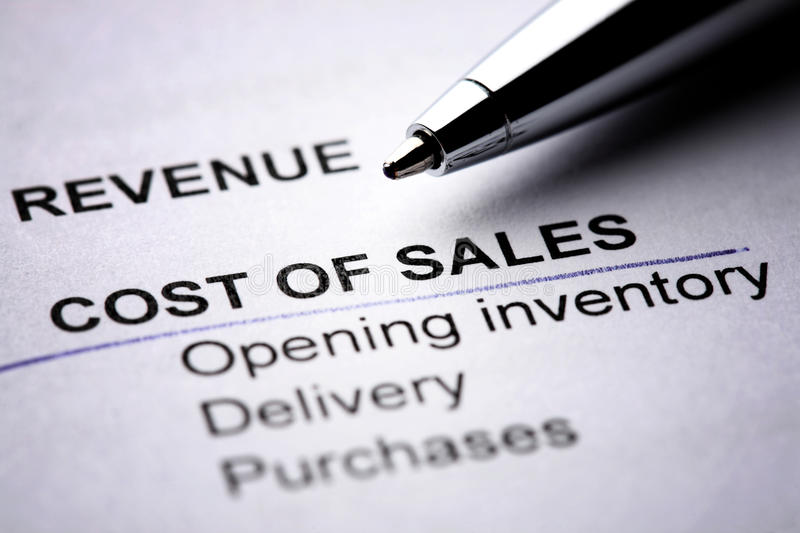 Download Cost of Sales stock image. Image of detail, sales, cost - 14302623