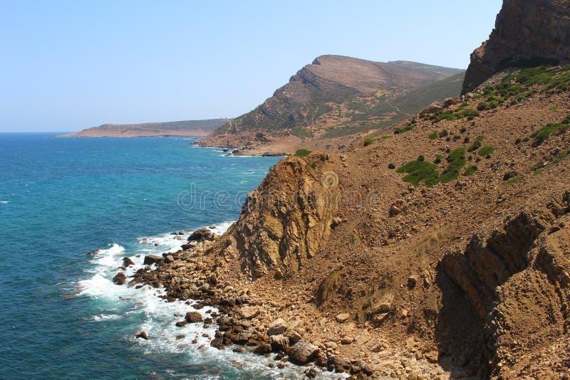 A costa áspera do Bon do tampão, Tunísia fotografia de stock royalty free