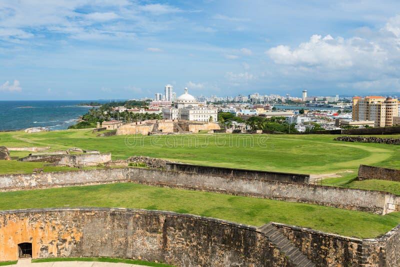 Costa atlántica en San Juan, Puerto Rico fotos de archivo