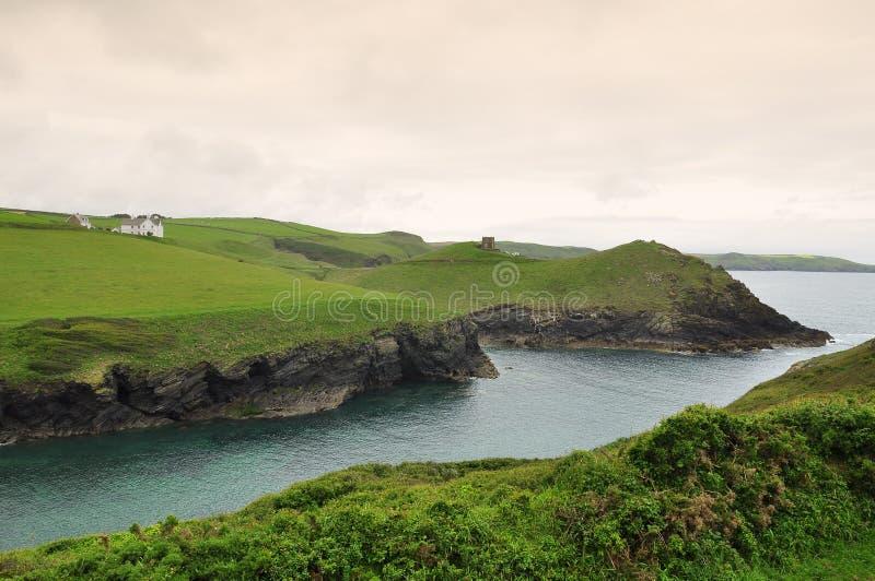 Costa atlântica norte de Cornualha, Inglaterra, Reino Unido imagens de stock royalty free