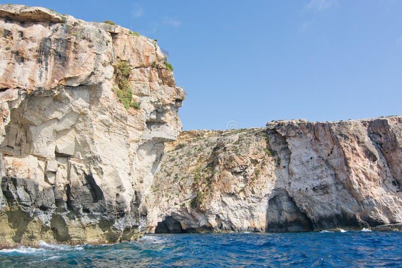 Costa azul da gruta foto de stock royalty free