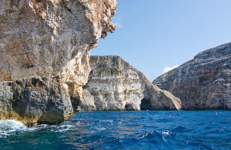 Costa azul da gruta fotografia de stock
