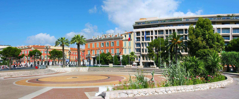 Costa azul de Francia, Niza foto de archivo
